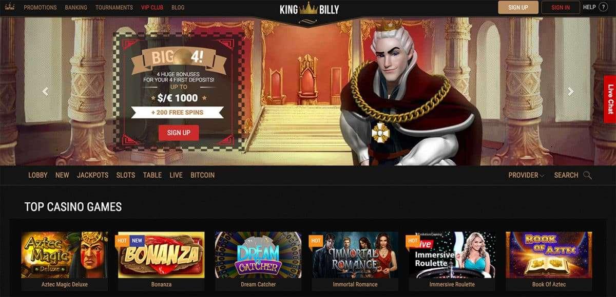 King Billy Casino arvostelu