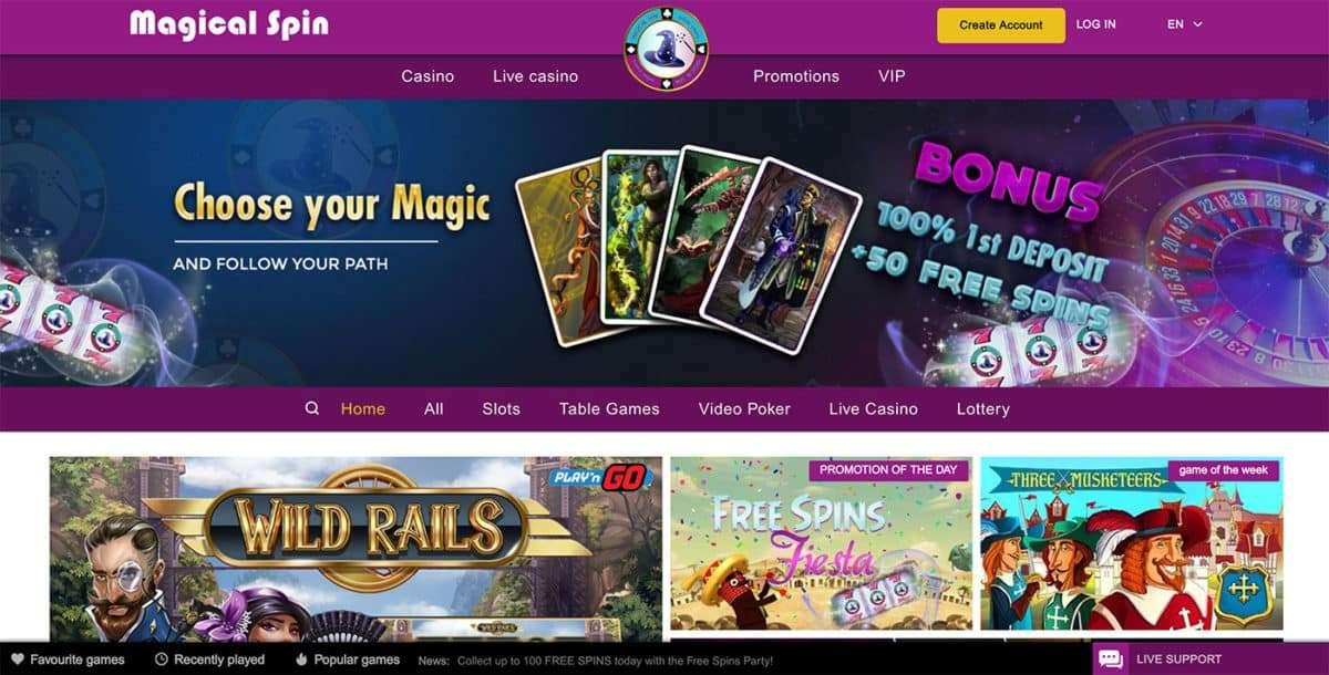 Magical Spin Casino arvostelu