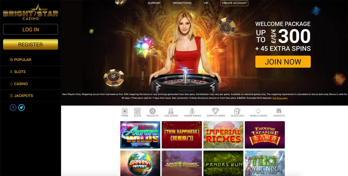 Bright Star Casino Review