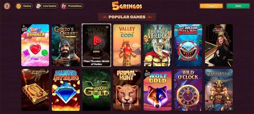 5Gringos online-kasino