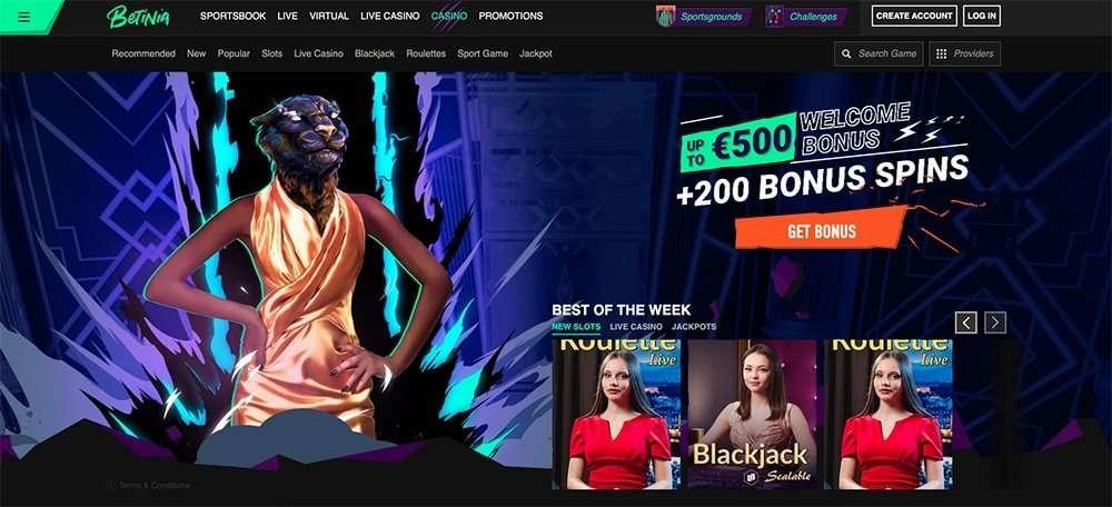 Betinia Casino Review