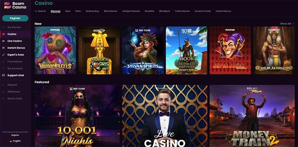 Boom Online Casino