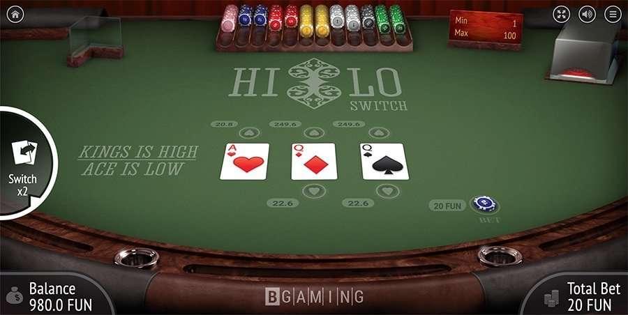 Hi Lo Card Game