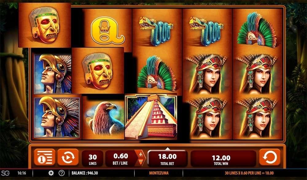 Montezuma korkean varianssin kolikkopeli