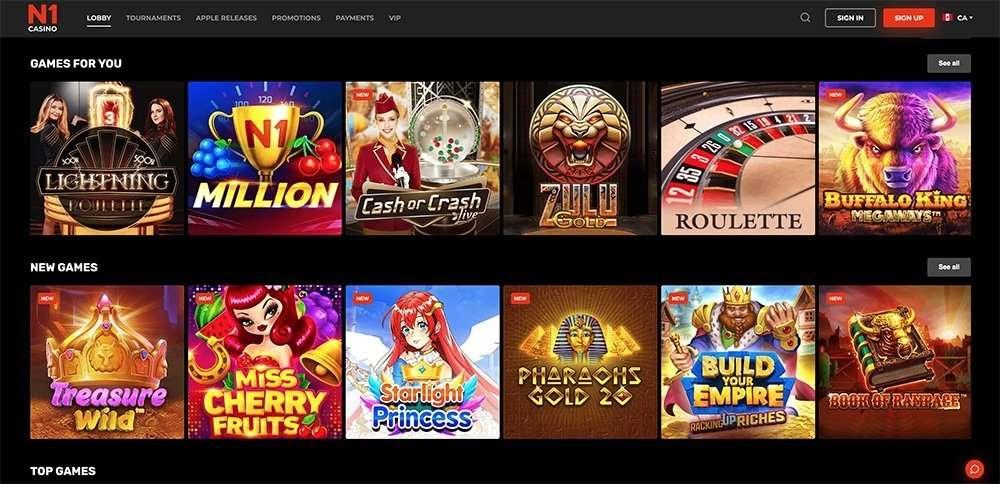 N1 kasinopelit