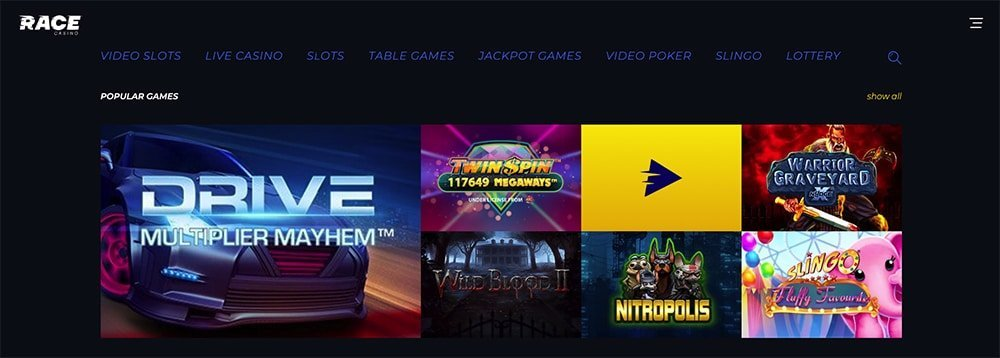 Race Online Casino Review
